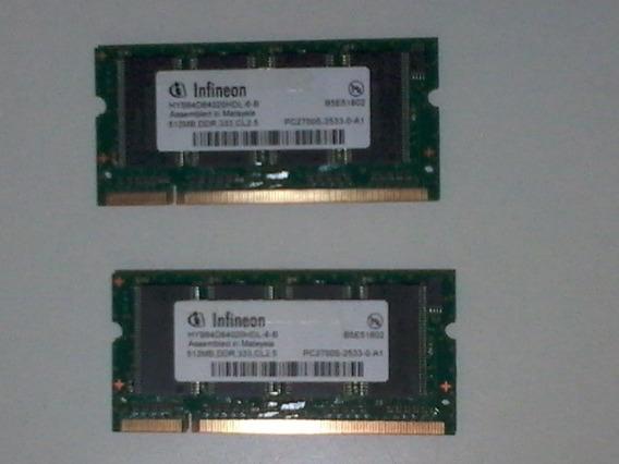 Memórias Ddr 512 Mb