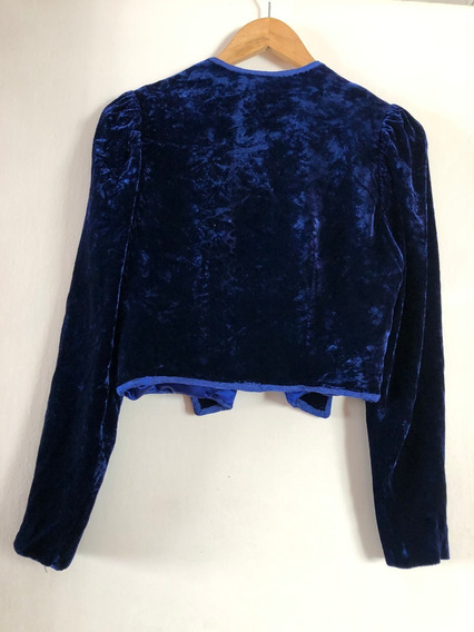 Blazer Saco De Pana Azul