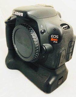 Câmera Cânon T3i Corpo Seminova C Grip Impecável