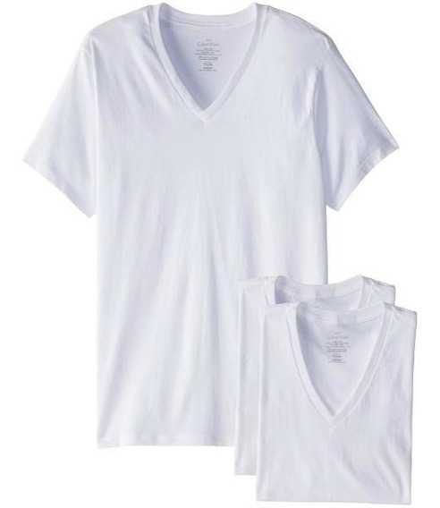 Calvin Klein (original Ee.uu) Remera ( Pack X 3)-talle L (v)