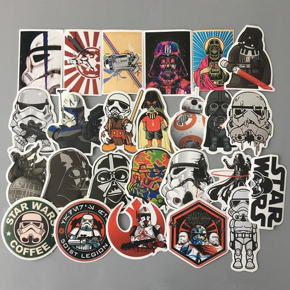 Star Wars Stickers/calcomonias 25pz A Prueba De Agua
