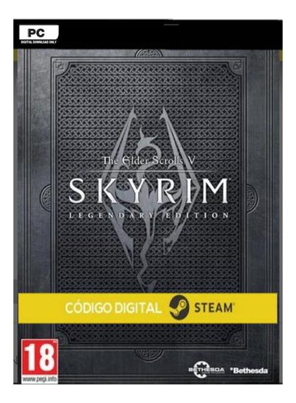 Skyrim Legendary Pc Steam Cd-key Código Digital Comprar