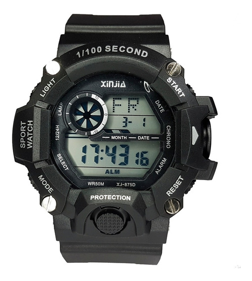 Relógio Militar Estilo G-shock Completo Rest Água Digital !