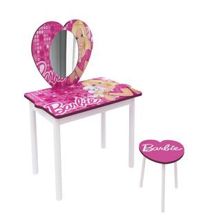 Tocador Con Espejo Infantil Mesa Y Silla Para Niños Barbie +