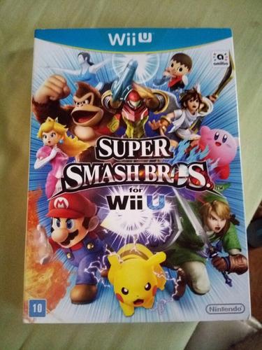 Super Smash Bros Wii U Midia Fisica Edição Nacional Com Luva