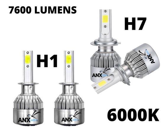 Kit Xenon Led H7 + H1 6000k 7200 Lumens 12v Promoçao