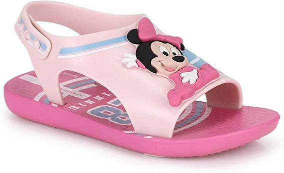 Sandália Papete Feminina Infantil Ipanema Love Disney Minnie