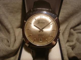 Excelente Reloj Renis Calendario 1968 Impecable! Muy Bueno!!