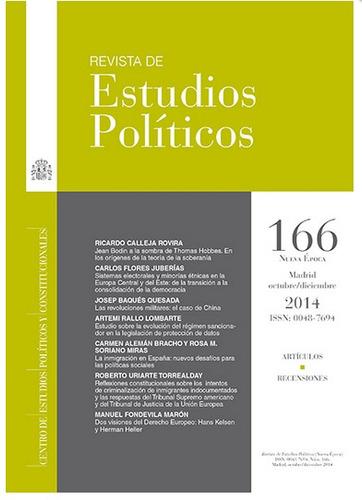Revista De Estudios Políticos. No. 166