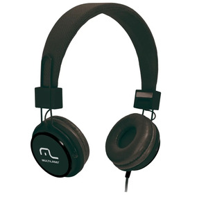 Headphone Multilaser Fun Preto C/cabo Microfone P2 Ph115