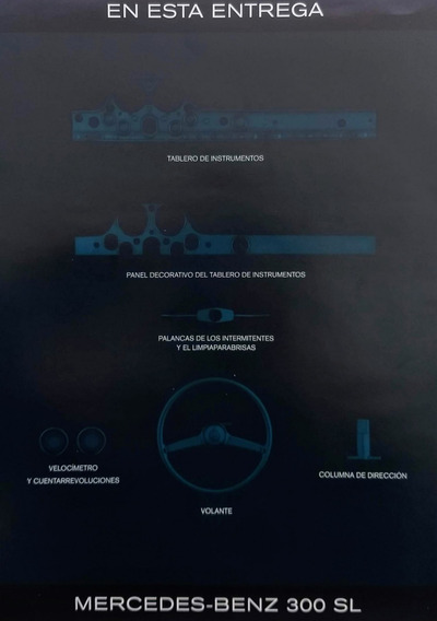 Mercedes Benz Sl-300 Alas De Gaviota Para Armar - Fasiculo 3