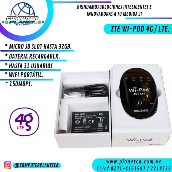 WiPod Modem 4g Lte Portatil Multibam Internet Zte Wd670 Wifi