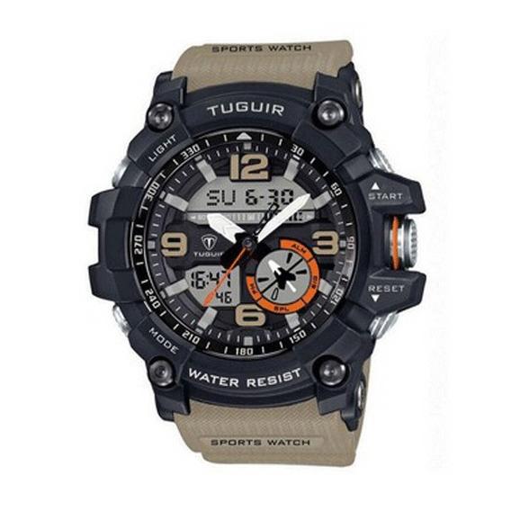 Relógio Masculino Tuguir Anadigi Tg6009 Bege Pronta Entrega