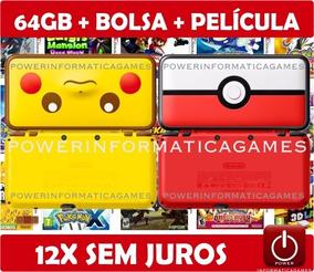 Nintendo New 2ds Xl Pokeball Ou Pikachu + 64gb + Brindes
