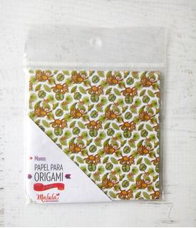 Monos Locos - Papel Para Origami 10 X 10 Cm