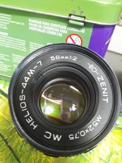 Lente Helios 58mm 44-7 M42