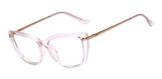 Armação Oculos Ogrife Og 1808-c Feminino Com Lente Sem Grau