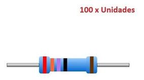 100 Unidades Resistor 470 Ohm 1/4w 1% Arduino Esp8266 Esp01
