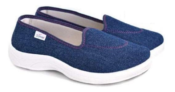 Zapatillas Panchas Mujer Comodas Taco Gowell 402 35 Al 41
