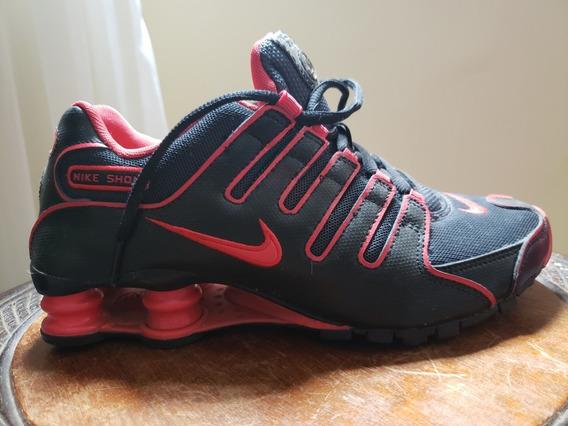 Tenis Nike Shox Nz,vermelho E Preto