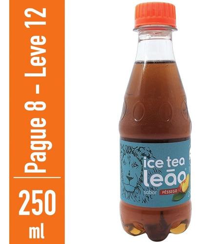 Chá Preto Ice Tea Pêssego Leão 250ml - Compre 8 Leve 12