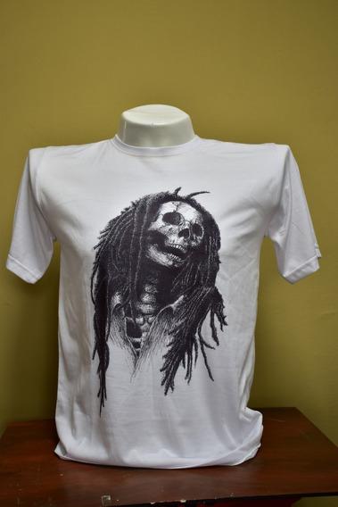 Camiseta De Hombre Blanca Con Estampado De Bob Marley - M