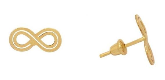 Brinco Infinito Em Ouro 18k - Ov/14534