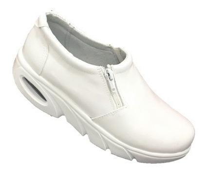 Zapatos Blancos De Enfermera Piel M. 101 Suela Masai