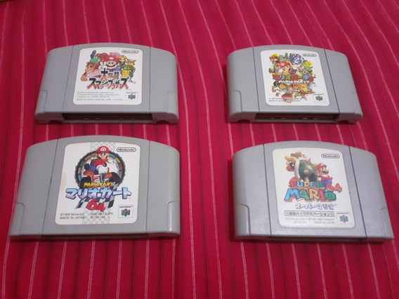 Mario 64, Mario Kart 64, Mario Party, Smash Bros Nintendo 64