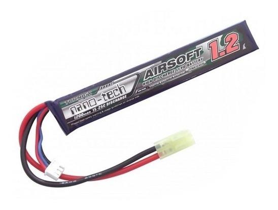 Lipo Bateria 1200 Mah 2s 7.4v 15c Tamiya Airsoft Flame Aeg