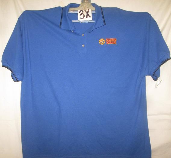 Camiseta Aazul Con Logo Tipo Polo Talla 3x Basic Edit