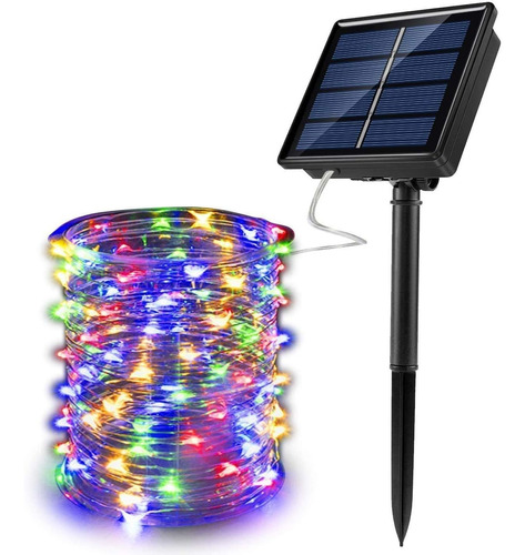 Guirnaldas Luces Solar 32m Multicolor Decoracion De Navidad