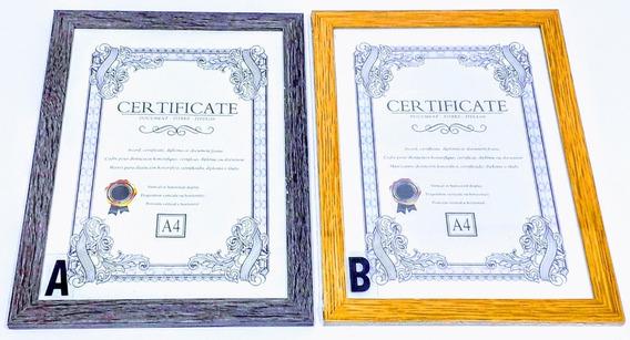 Cuadro Porta Diploma A4 Simil Madera Regaleria Pacho