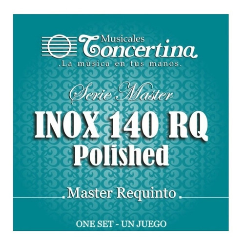 Cuerdas Requinto Nylon Concertina Inox 140 Rq