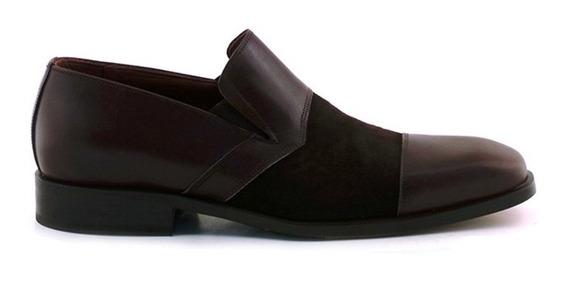 Zapato Hombre Vestir Cuero Briganti Suela Gamuza Hccz01027 V