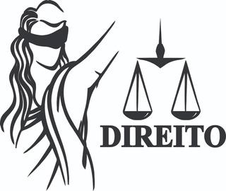 Adesivo Curso Direito Deusa Da Justiça Balança - Leve 2 Un