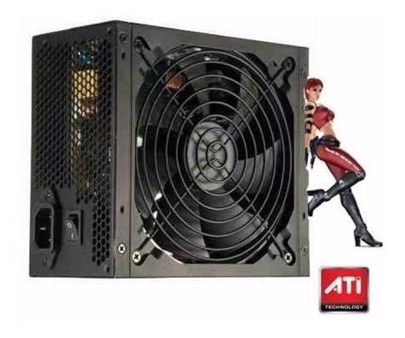 Fonte Atx 500w Reais Gamer Super Silenciosa Para Pc Bivolt