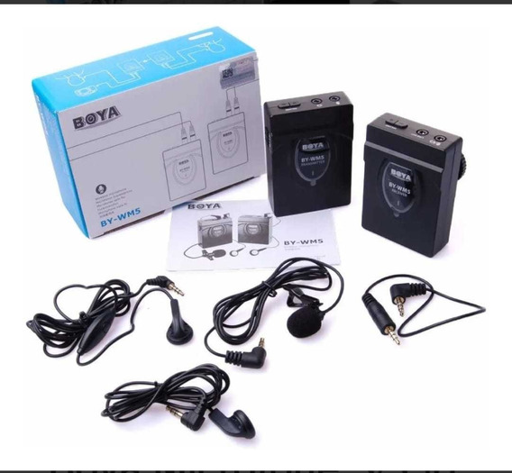 Boya Microfone S/ Fio By-wm5 2.4 Ghz Mic Dslr