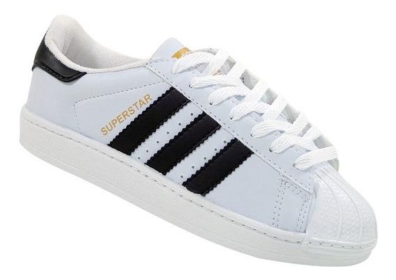 Tênis Unisex Superstar Branco E Preto
