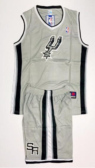 Uniforme Basketball Baloncesto Nba San Antonio Spurs Adulto