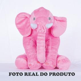 Almofada Elefante Pelúcia 60cm Travesseiro Bebê