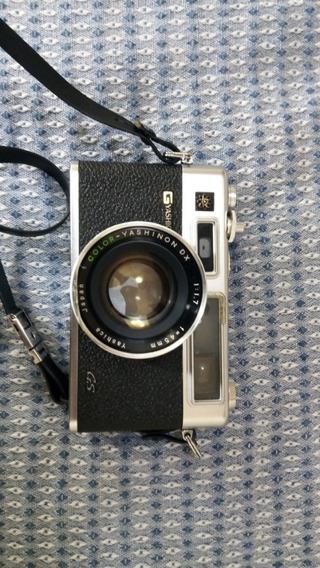 Máquina Câmera Fotográfica Analógica Yashica Electro 35 Gs