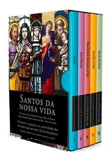 Box Santos Da Nossa Vida Livros Católicos Devotos 5 Volumes