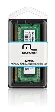 Memória Notebook Multilaser Sodimm Ddr3 4gb Pc3l-12800