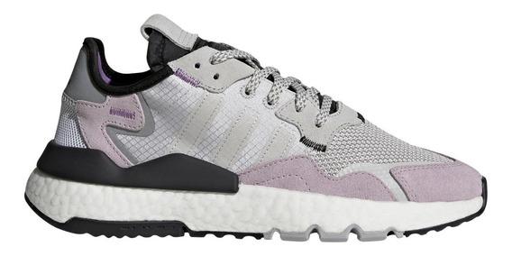 Zapatillas adidas Nite Jogger Gri/lil De Mujer