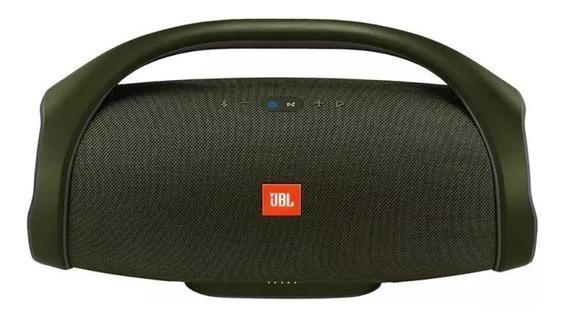 Caixa De Som Jbl Boombox Bluetooth Verde Original - Nova Lin