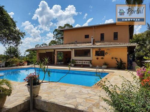 Chácara Com 6 Dormitórios À Venda, 2958 M² Por R$ 850.000,00 - Recreio Santo Antonio - Jarinu/sp - Ch0180
