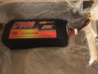 Batería Lipo 17000 Mah 22.2 V 377.4 Wh