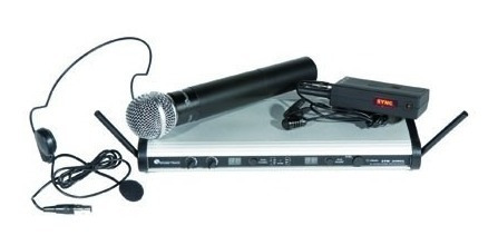 Microfono Inalambrico Combo Uhf Soundtrack 99 Canales