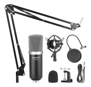 Kit Micrófono Condensador Estudio Profesional